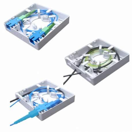 Caixa Terminação Optica Ftth/2 Fibras Br Multitoc Fibra (roseta) Mucx0060