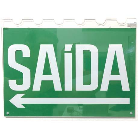 Placa Acrilica Psl256 Df Br-vd Saida Seta Engesul