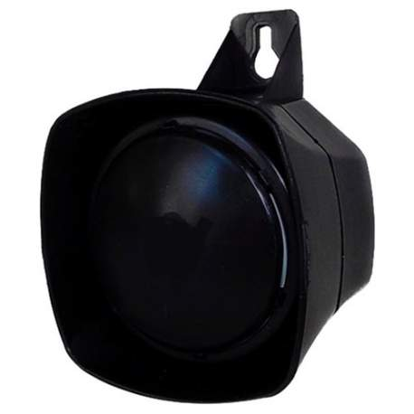 Sirene Compacta Monotonal 120db 12v Sp1089 Security Parts Preta